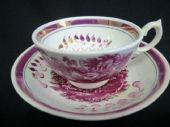 SOLD Georgian period Lustre cup and saucer